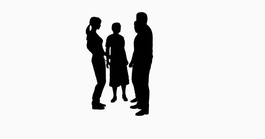 4k Business people silhouette talking. cg_02764_4k