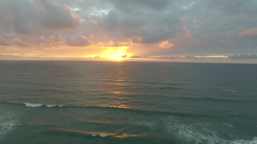 MEDITERRANEAN SEA, ISRAEL- CIRCA MARCH, 2015: Aerial of the Mediterranean Sea shoreline at sunset in the nation of Israel. | Shutterstock HD Video #10658327