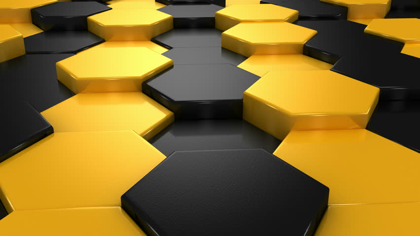 yellow and black blocks animation  stock footage video