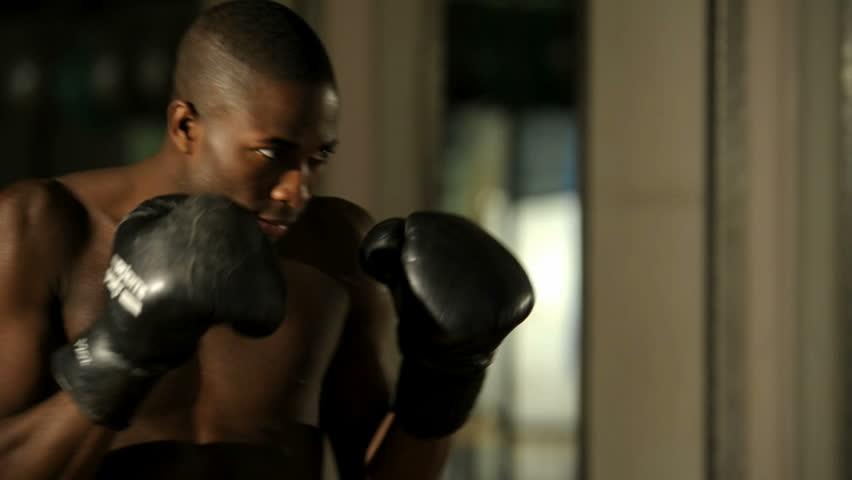 Thai Boxer exercising; HD Photo JPEG