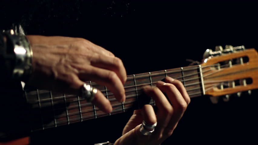Classical Spanish Acoustic Guitar Player - Two Handed Tapping Technique