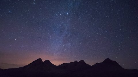 4k night time timelapse of the stars in the atlas mountains, morocco
