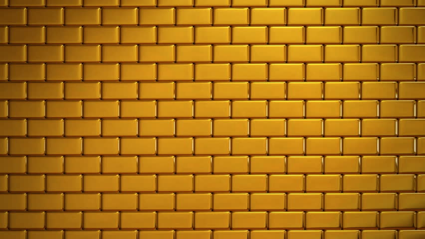Stock Video Clip Of Metallic Brick Wall Exploding And