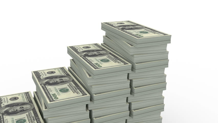 Image result for Large stack of money next to small stack animation