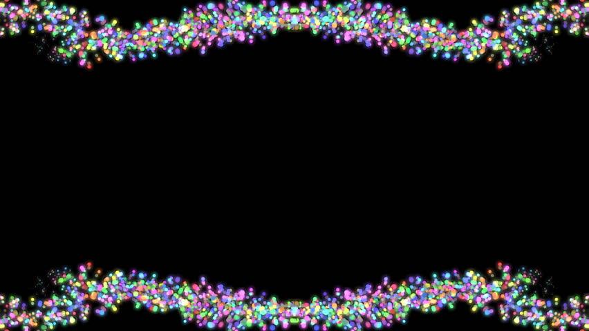 Confetti animated frame