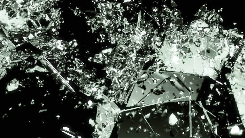 Glass smashed and broken in slow motion and 4k. Alpha matte | Shutterstock HD Video #10880258