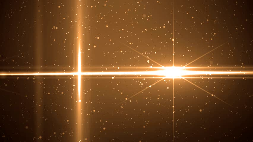 Animation orange background with rays and sparkles stars on black background. Abstract animation background with lens flare. Seamless loop. | Shutterstock HD Video #10936121