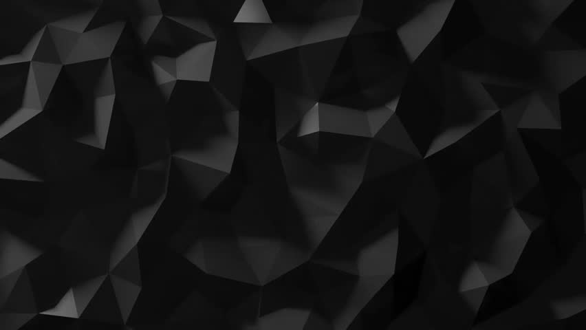 Black Low Poly Abstract Background. Seamlessly Loopable. | Shutterstock HD Video #11023604