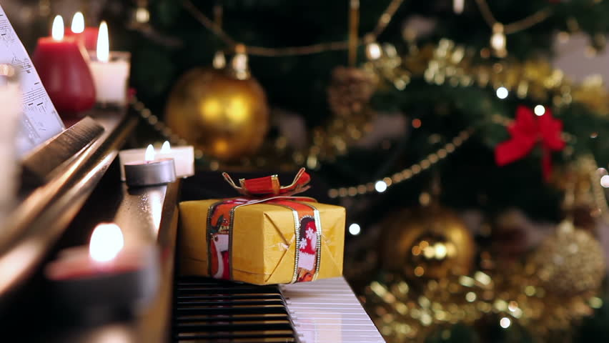 Christmas Piano.Christmas Gift On Piano Christmas Stock Footage Video 100 Royalty Free 11042528 Shutterstock