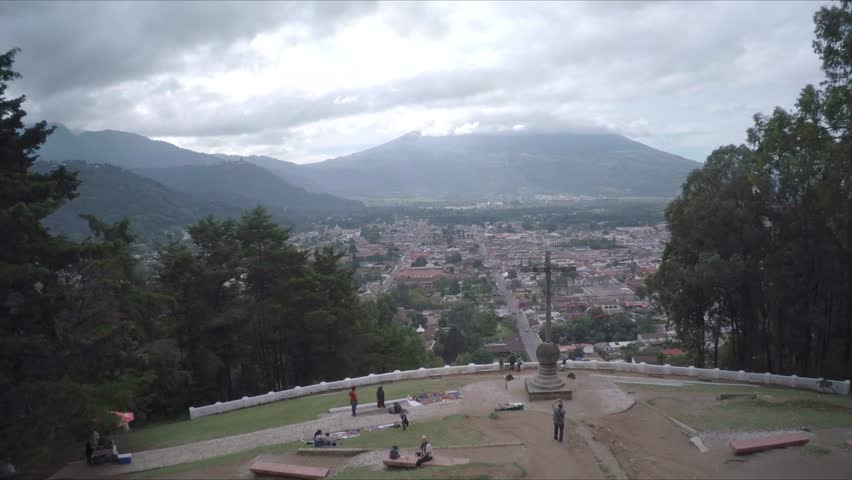 Aerial View of Antigua Guatemala Central America