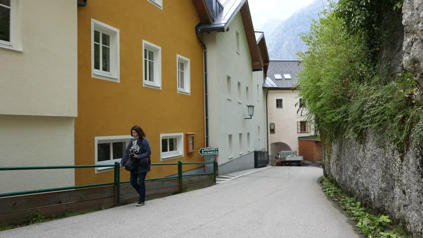 hallstatt austria may 21 narrow streets of hallstatt on may 21 2015 - Brown Apartment 2015