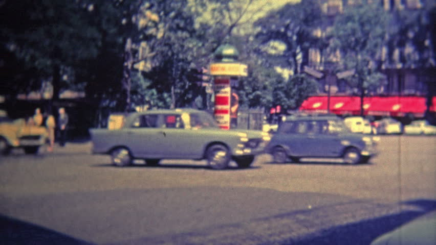 AMSTERDAM - 1969: Touring around the city at landmarks with busy traffic streets. | Shutterstock HD Video #11172878
