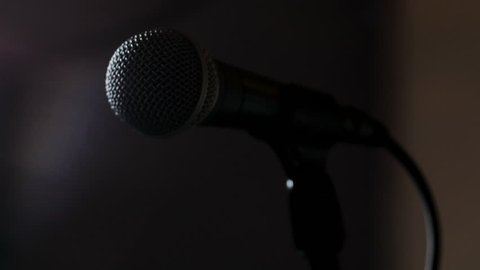 Singer takes hold of microphone