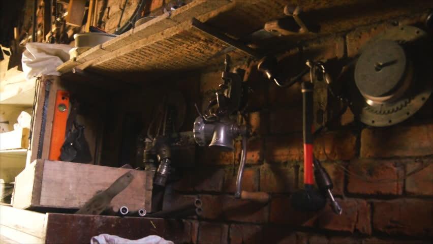 Room with work tool. Workshop repair. | Shutterstock HD Video #11206298