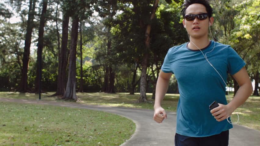 Asian guy running