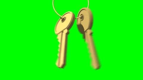 Animated door keys that slide down a key ring, hit and swing. Also on Green and with a matte to composite over any background. Ideal for Estate agents, Real Estate, House builders, Self Builders.