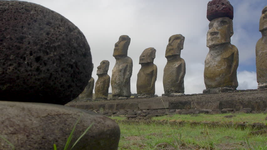MS PAN View of Ahu Tongariki, Easter Island, Chile