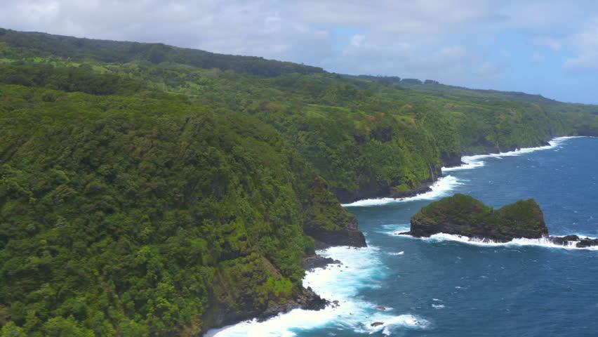 An aerial shot of the Maui, Hawaii Coastline | Shutterstock HD Video #11264888