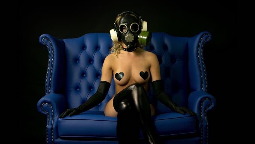 Women gas mask fetish