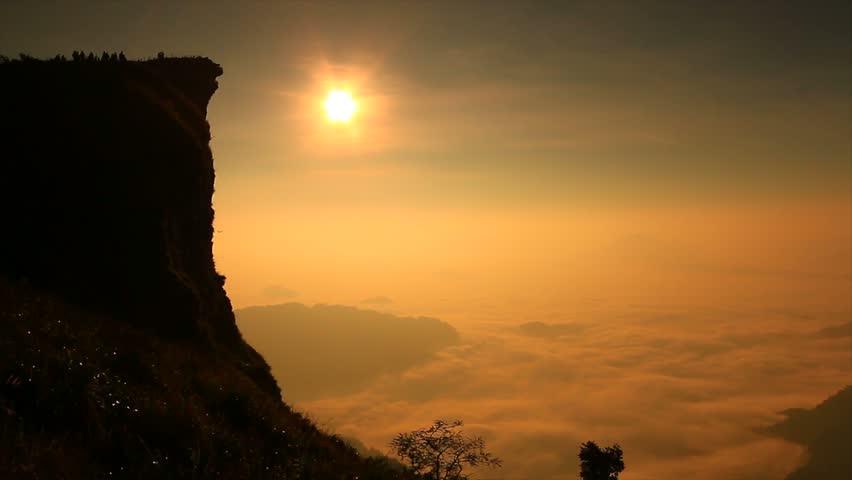 Landscape sunrise in nature at Phu chi fa in Chiang rai,Thailand  | Shutterstock HD Video #11307068