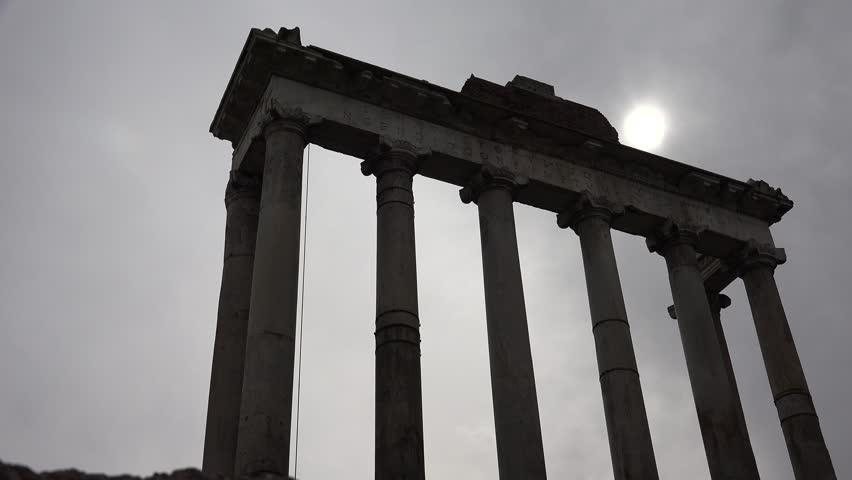 4K Roman Forum Rome Italy Columns Temple Landmark, Ancient Arc Arch Facade Ruins | Shutterstock HD Video #11418998