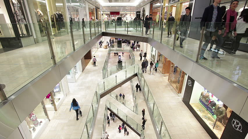 Melbourne, Australia - Aug 1, 2015 People shopping in a shopping mall in Mellbourne, Australia   Shutterstock HD Video #11548748