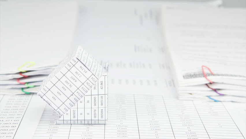 Blueprint of a house looped background full hd ultra hd 4k bankruptcy of house and group of paper ball on finance account between pile of overload paperwork malvernweather Gallery