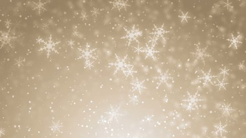 White glitter background - seamless loop, winter theme. VJ Elegant abstract with snowflakes. Christmas Animated Gold Background. loop able abstract background circles.