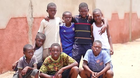 A group of  Black boys , Abidjan Ivory Cost, June 2015
