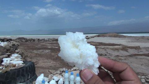 Djibouti Lac assal (salt lake) Sample of some salts