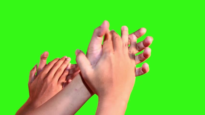 Hands making applause isolated on green screen | Shutterstock HD Video #11654069