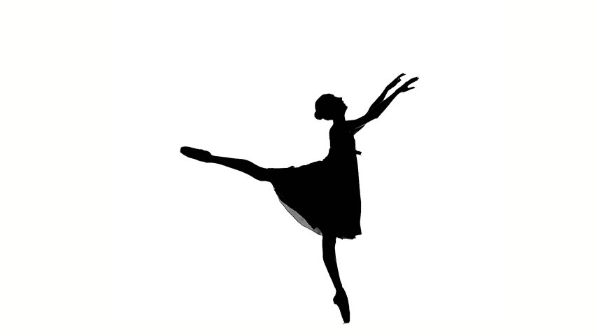 Young Beautiful Dancer Posing On A White Background