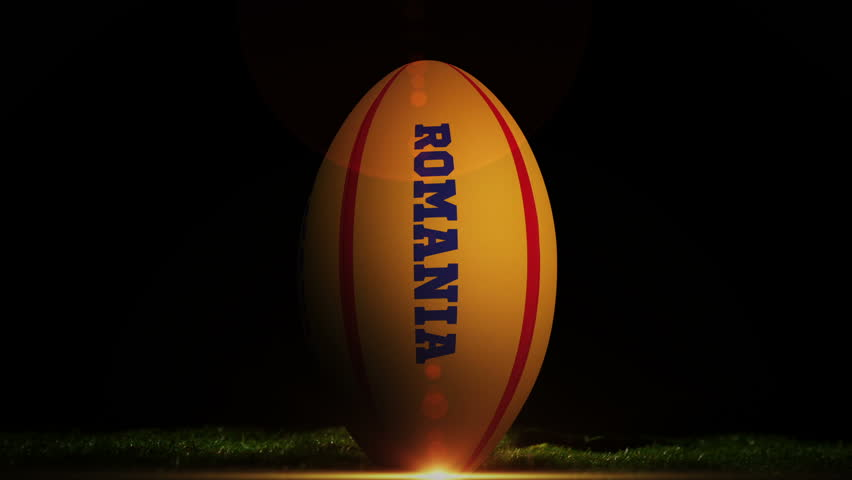 Digital animation of Player kicking romania rugby ball | Shutterstock HD Video #11670668