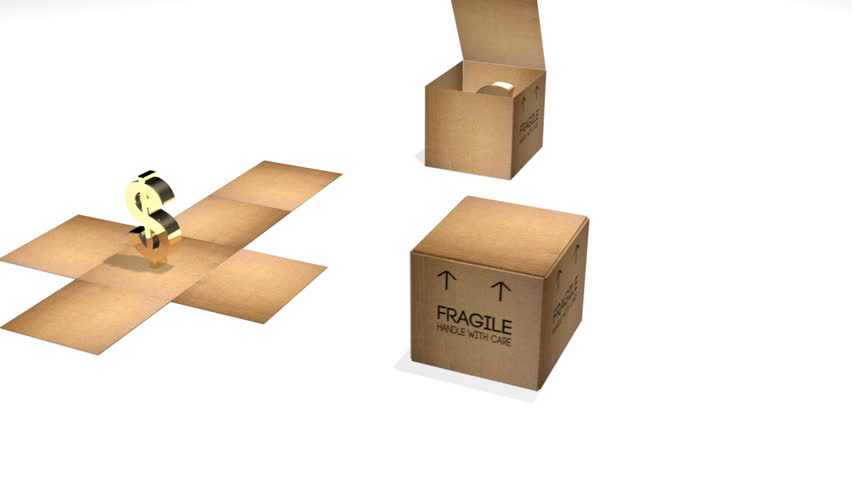 3 Cardboard Boxes with