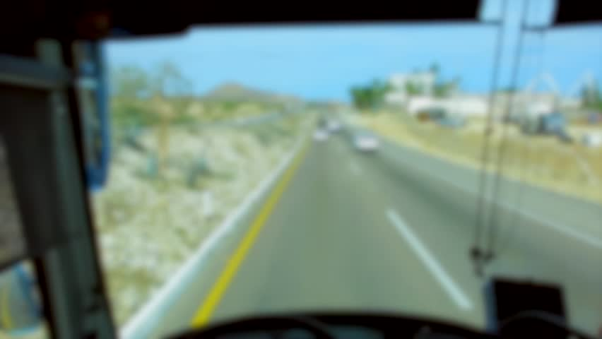 First Person View Driving Mexican Highway Near Cabo San Lucas on Bus | Shutterstock HD Video #11742878
