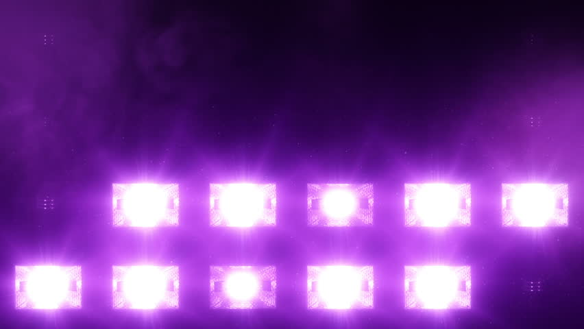 Close Up Purple Floodlights Shining Brightly And Turning On Off More Color Options In My Portfolio