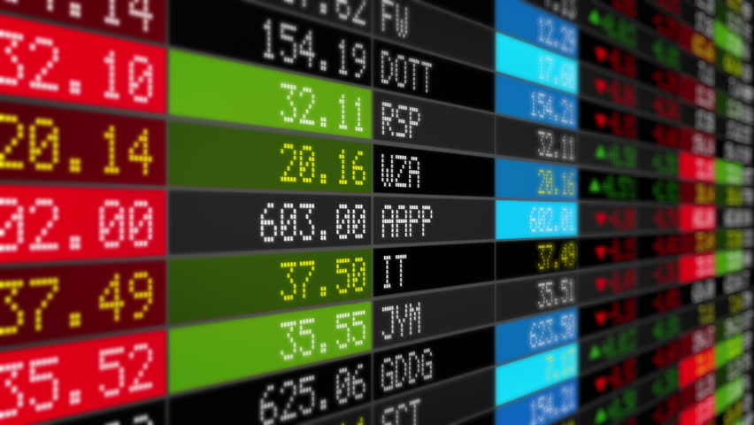 Stock Market Tickers. Loopable. Black. 2 videos in 1 file. Digital animation of Stock Market prices passing by. Lateral view. More options in my portfolio. | Shutterstock HD Video #11745413