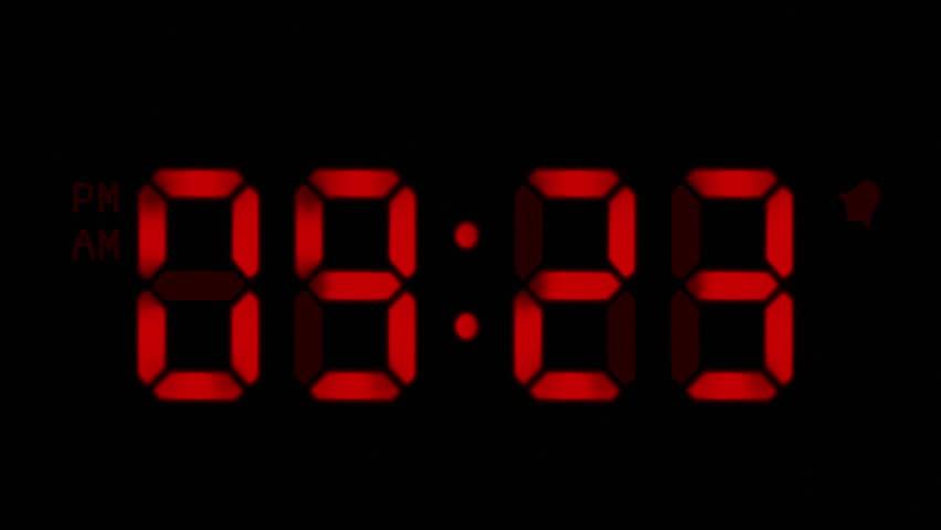 Image result for orange digital clock