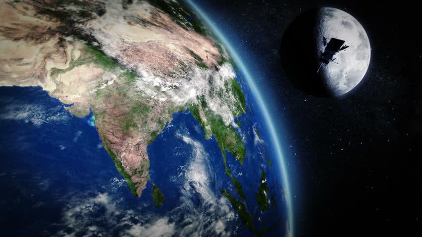 India Highly Detailed Telecommunication Satellite Orbiting The - Hd satellite images