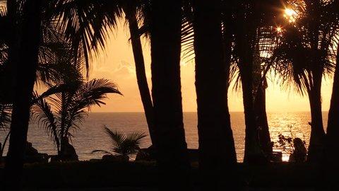 Beach Scene at Sunset, Nuevo Vallarta, Nayarit, Puerto Vallarta, Mexico, North America