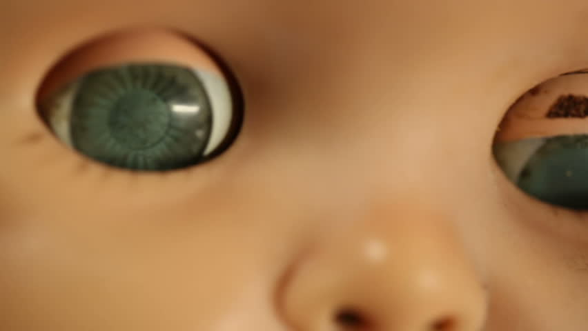 Old Baby Doll Eye Detail Stock Footage Video 100 Royalty Free