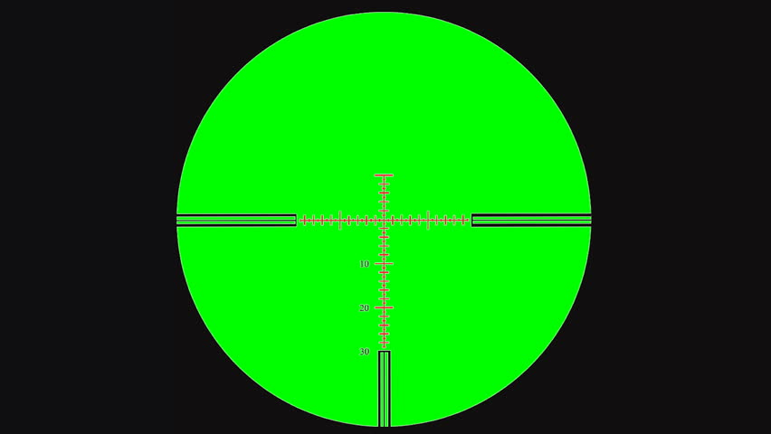 Sniper scope or optical sight on green screen. Sniper scope or optical sight for editing