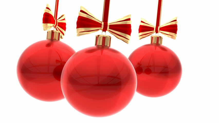 Stock Video Of 3d Animation Red Christmas Balls