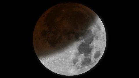 Moon eclipse timelapse animation 4k UHD