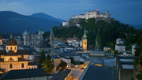 Historic city of Salzburg, Austria