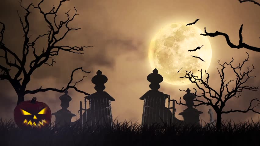 Halloween Graveyard Background Loop A Creepy