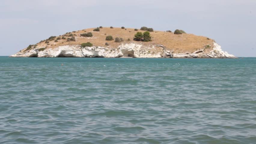 A small uninhabited island on the Italian coast of Gargano