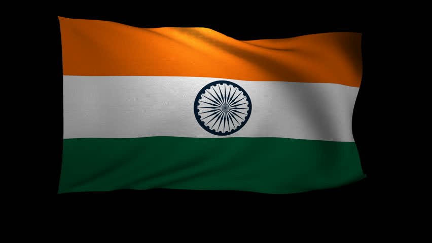 Indian Flag Animated: India Flag. Nice Flag Animation In Dirty / Grunge Style