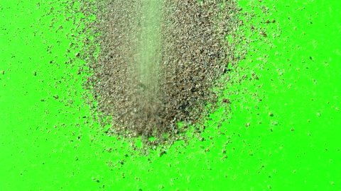 Sand on a green screen