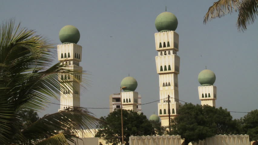 DAKAR, SENEGAL - CIRCA MAY 2014: Grande Mosquee de Dakar.